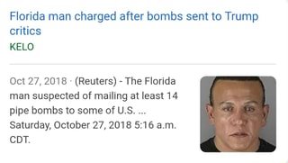Sent Oct Pipe U To 27 Suspected Bombs 5 Least October Mailing s 16 Critics Of Man Am Florida Trump 14 Charged At Saturday reuters Cdt After - Some Kelo Ifunny The 2018