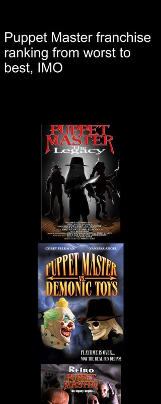 Puppet Master franchise ranking from worst to best, IMO