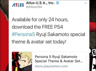 ATLus @AUUSUSA Available for only 24 hours, download the