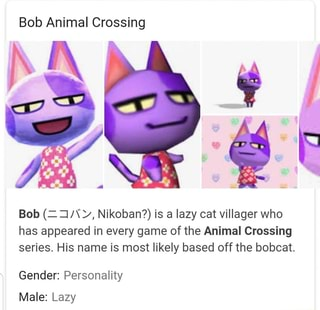 Bob Animal Crossing Bob I Nikoban Is A Lazy Cat