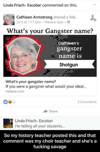 Linda Frisch- Escobar commented on this   ' Cathleen