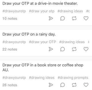 Draw Your Otp At A Drive In Movie Theater Drawyourotp Drawyourotp Drawingideas C Draw Your Otp On A Rainy Day Drawyourotp Drawyourotp Drawingideas Draw Your Otp In A Book Store Or Coffee