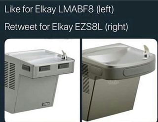 Like for Elkay LMABF8 (left) Retweet for Elkay EZS8L (right