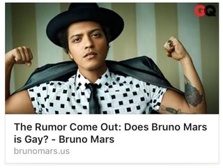 Does Is Bruno Mars Is Gay