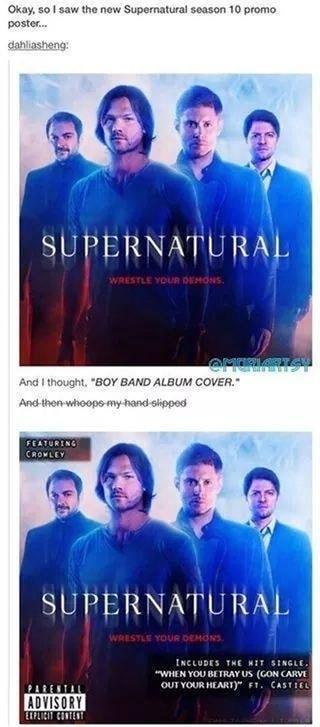 Okay, so I saw the new Supernatural season 10 promo poster ...