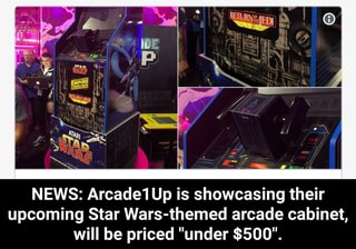 NEWS: Arcade1Up is showcasing their upcoming Star Wars-themed arcade