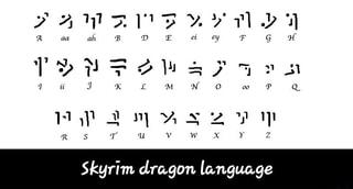skyrim dragon language