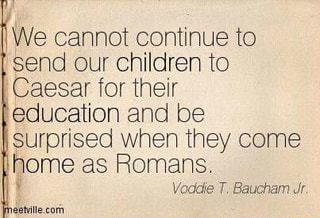 We cannot continue to send our Children to Caesar for their