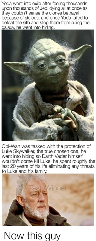 Yoda went into exile atter feeling thousands upon thousands of Jedi