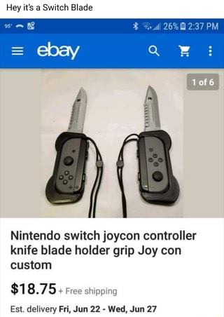 Hey it's a Switch Blade Nintendo switch joycon controller