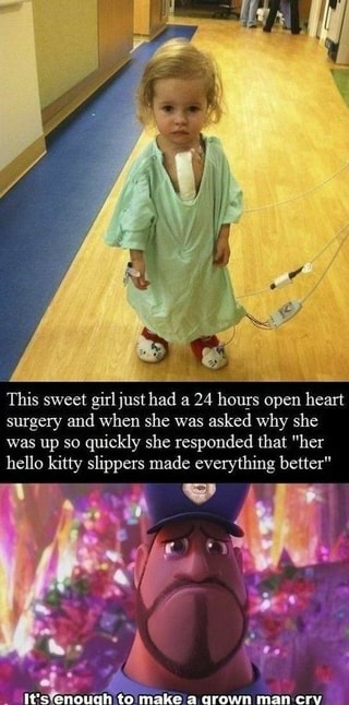 This Sweet Girl Just Had A 24 Hours Open Heart Surgery And When