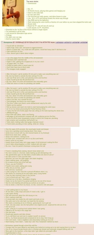 11th thing it's a long one! 'True anon stories ...