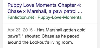 Puppy Love Moments Chapter 4: Chase x Marshall, a paw patrol