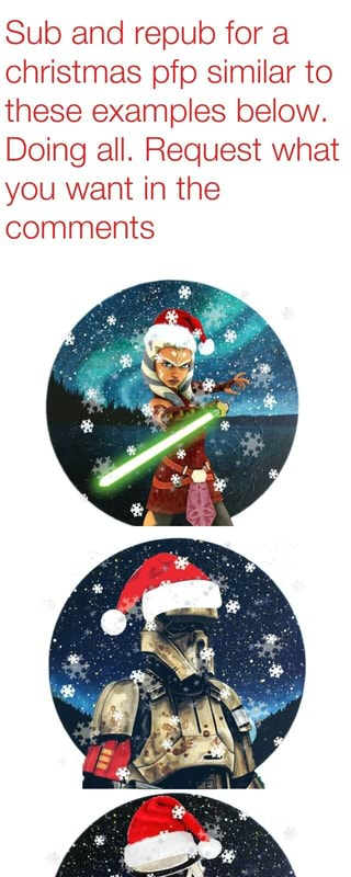 Christmas Pfp.Sub And Repub For A Christmas Pfp Similar To These Examples