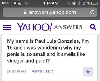 my penis smells