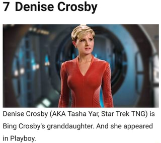 7 Denise Crosby Denise Crosby Aka Tasha Yar Star Trek Tng Is Bing