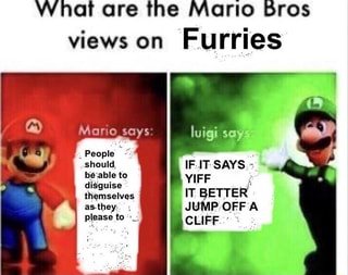 What Are The Mario Bros Views On Furries Ifunny