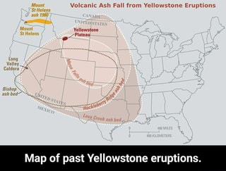 Volcanic Ash Fall from Yellowstone Eruptions Map of past Yellowstone on super volcano map, yellowstone river on us map, yellowstone geyser map, yellowstone earthquake map, yellowstone grand canyon map, yellowstone pipeline map, yellowstone disaster map, yellowstone blast map, yellowstone on a map, yellowstone points of interest map, yellowstone fallout map, yellowstone volcanic eruption map, yellowstone volcanic national park map, yellowstone ash cloud map, if yellowstone erupts map, yellowstone eruptions ash fall map, yellowstone caldera map, snake river yellowstone national park map, mount st helens ash map, st. helens ash cloud map,