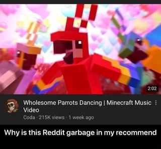 n Wholesome Parrots Dancing I Minecraft Music 2 j Coda 215K