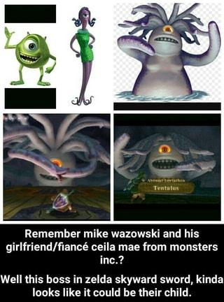 Remember mike wazowski and his girlfriend/fiancé ceila mae