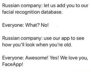 Russian company: let us add you to our facial recognition