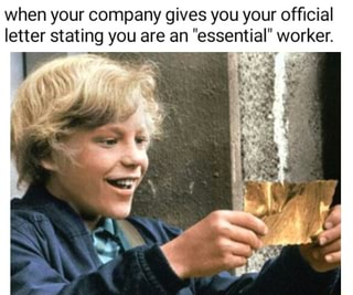 When your company gives you your official letter stating ...