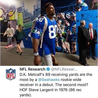 NFL Research º @NFLResear... D.K. Metcalf's 89 receiving ...