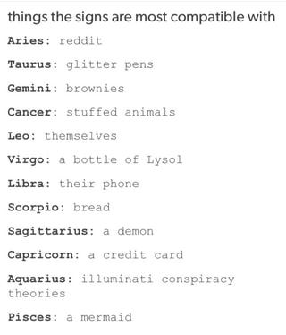 Things The Signs Are Most Compatible With Taurus Glitter Pens