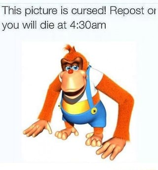 This picture is cursed! Repost or you Will die at 4:30am ...