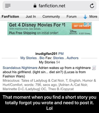 FanFiction Just In Community Forum '