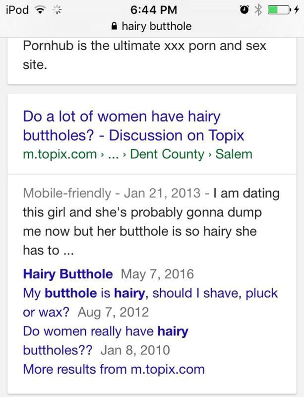 Hairy Butthole Women