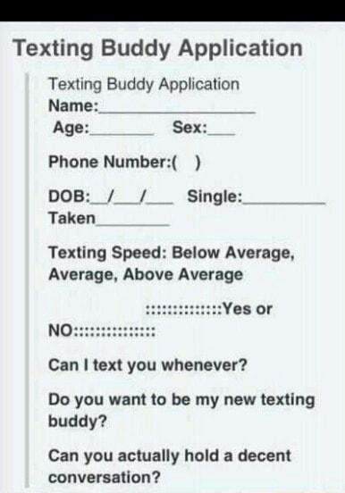Buddy texting TextBuddy for