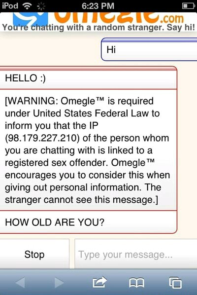 Message sex offender omegle 4chan Omegle