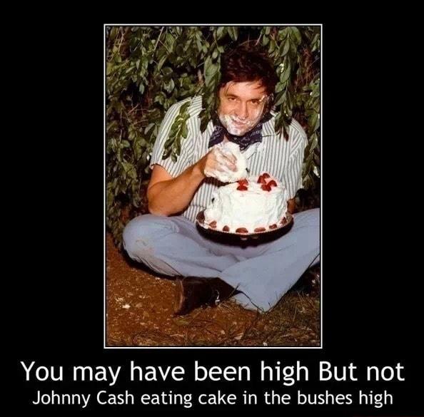 Johnny Cash Eating A Cake
