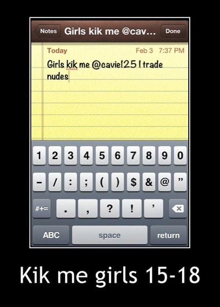 Girls kik