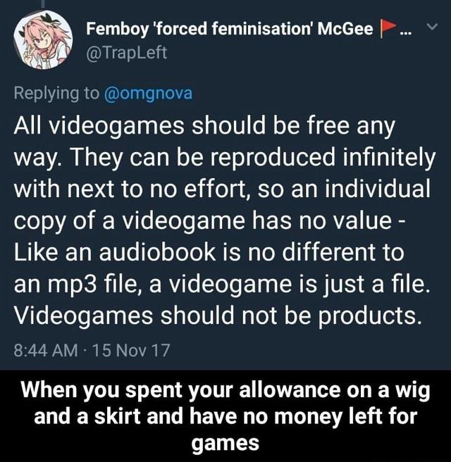 Game feminisation How it