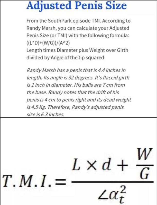 formula pentru calcularea penisului