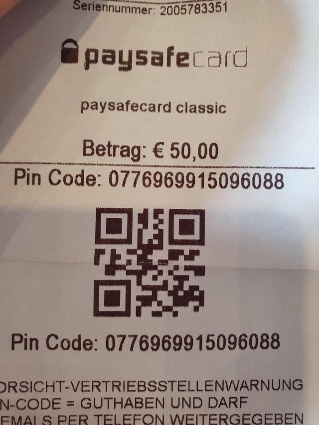 Fake codes paysafe The Random