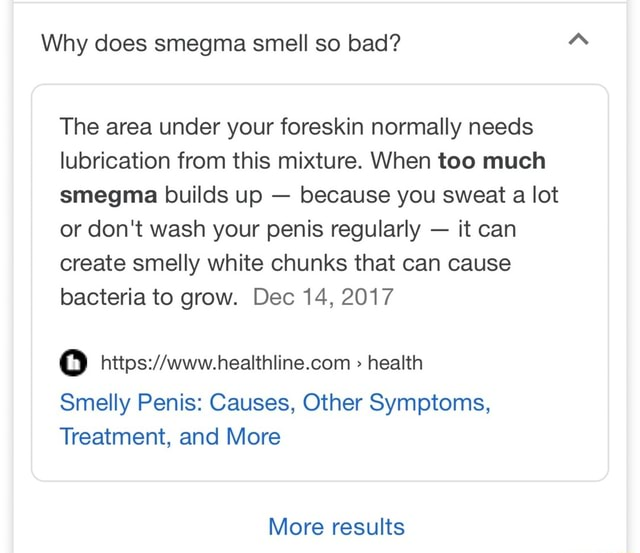 Why does smegma smell