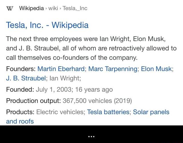 W Wikipedia Tesla, Inc Tesla, Inc. Wikipedia The next ...