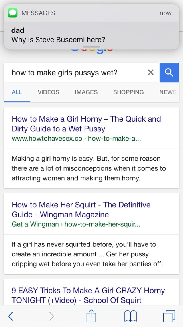 What to text a girl to make her wet