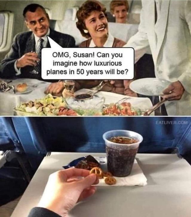 OMG, Susan! Can you imagine how luxurious planes in SO years will be? - )