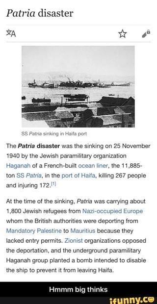 Patria disaster