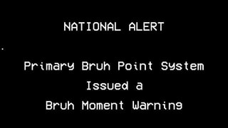 Primary Bruh Point System, Issued 6, Bruh Moment warning